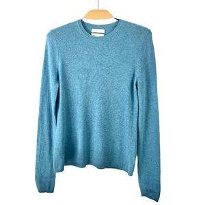 Ellen Tracy (Tall) Blue 100% Cashmere Sweater US L